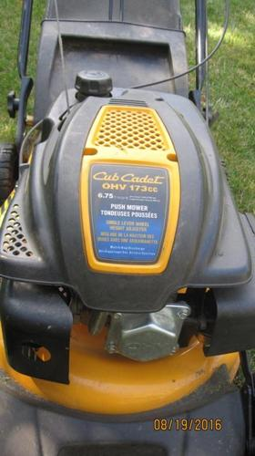 Cub Cadet Push Lawnmower is in very good condition