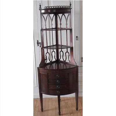 Deilcraft mahogany corner cabinet