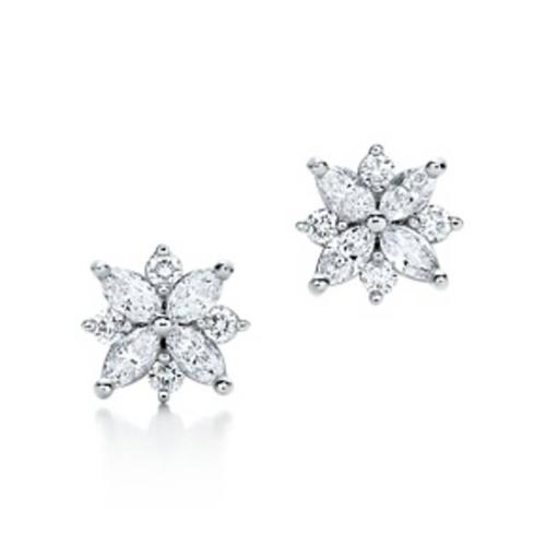 diamond ring and matching earrings