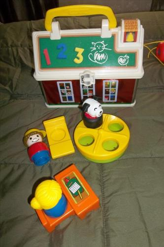 Each! Fisher-Price Little People Play 'n Go School/pull a long shoe.