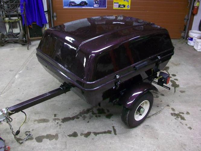 ENCLOSED 16 CU FT MOTORCYCLE OR CAR TRAILER READY TO ROLL!