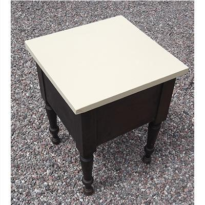 End Table with Painted Top and Mahogany Base