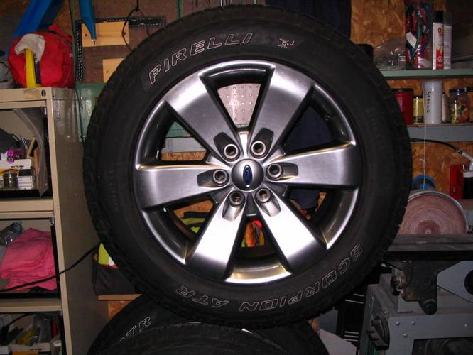Ford FX4 OEM rims and Perelli Tires