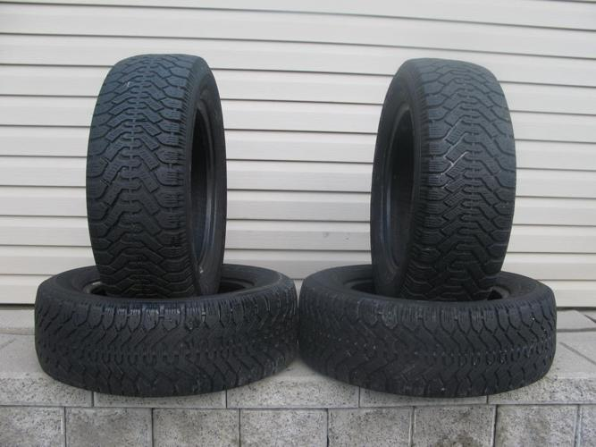 FOUR (4) GOODYEAR NORDIC WINTER TIRES /215/60/15/ - $100