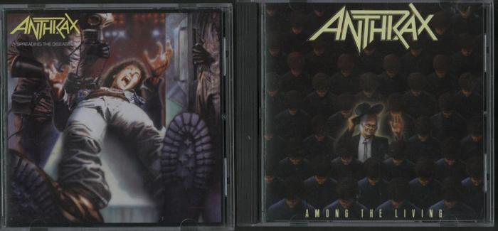 Four Anthrax CDs Among The Living  Spreading The Disease
