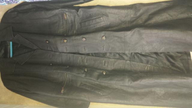 Full length leather jacket