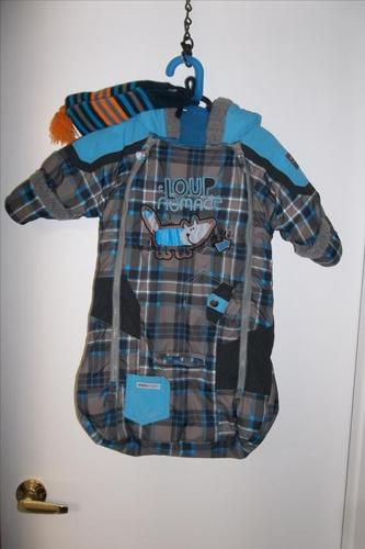 Gagou Tagou snowsuit/sack for boy 0 to 12 m in mint condition!