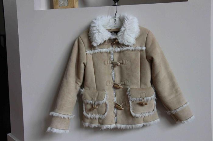 Gap Girl's Suede Faux Fur Coat