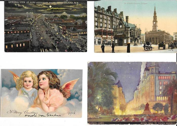 GIANT lot of 325 Vintage postcards early 1900s + up