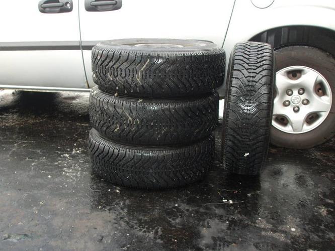 Goodyear Nordic 4 winter tires on Rims P215/70R15