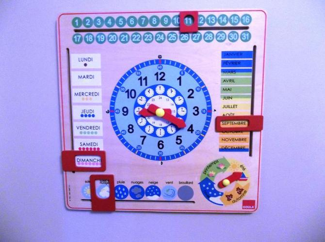 Goula Calendar Clock - French *Mint Condition