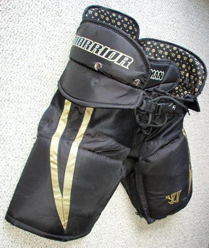 """Hockey Pants `Warrior Hitman` sz. Jr.Large26-28""""- $20."""