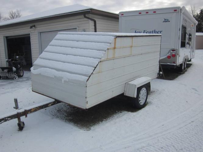 home made enclosed trailer