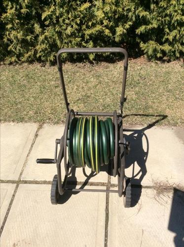 Hose Reel With Two 50? Yardworks Heavy-duty Hose
