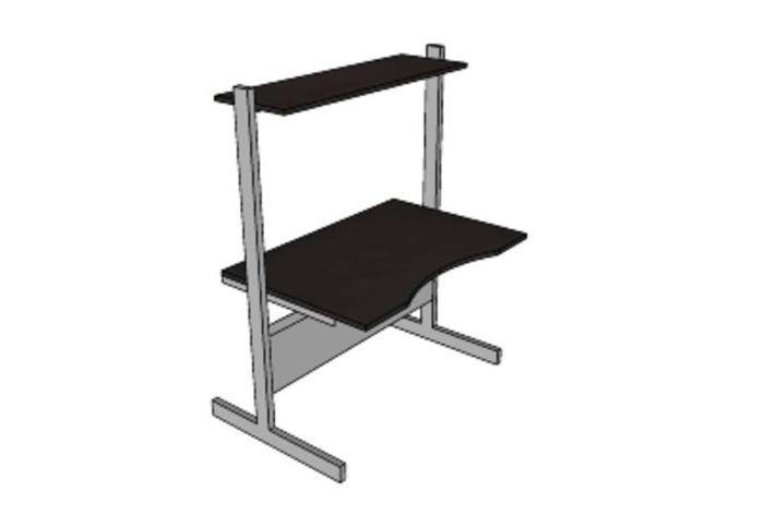 """Ikea """"Jerker"""" Desk Black Grey for sale in Sault Ste"""