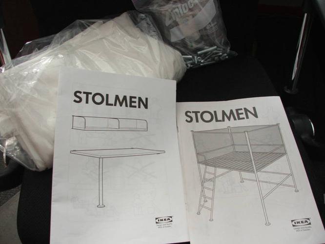 Ikea Stolmen Doubl Loft Bed With Desk And Shelf Metal Frame For