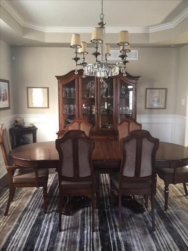 Incredible walnut dining set. must see!