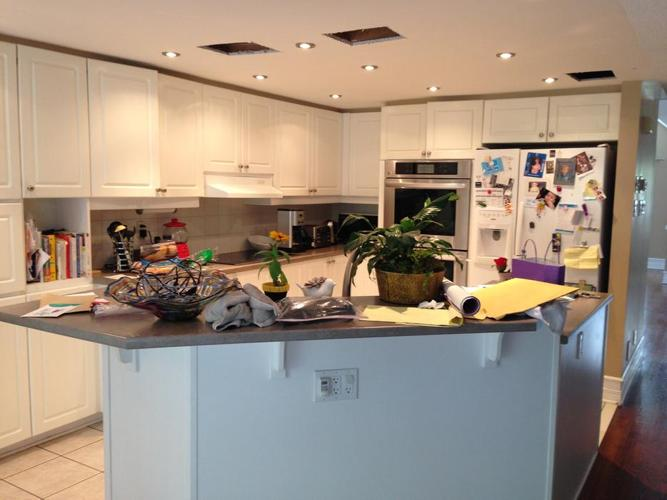 Kitchen Cabinets, Sink and Counter