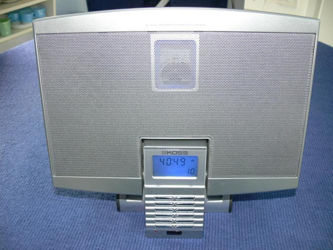 KOSS Flat Speaker Micro CD Hi-Fi System