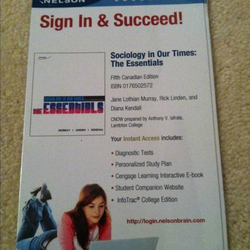 Lambton college sociology textbook and study guide