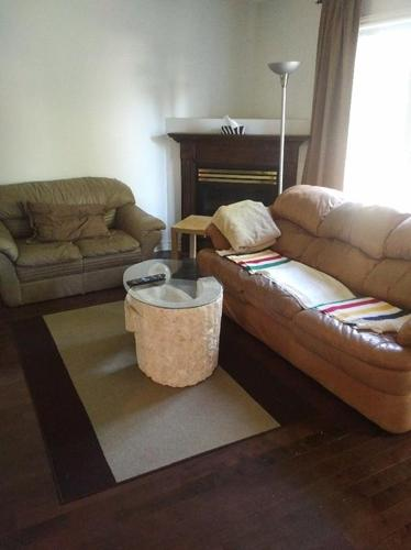 Leather couches & Stone Marble Coffee table