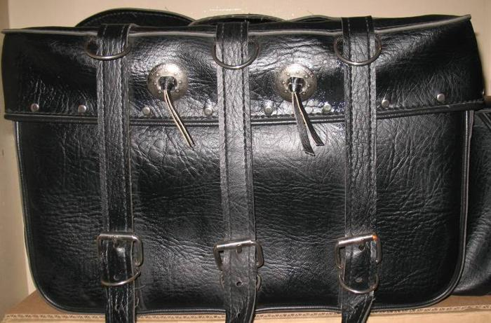 Leather motorcycle sadllebag cases