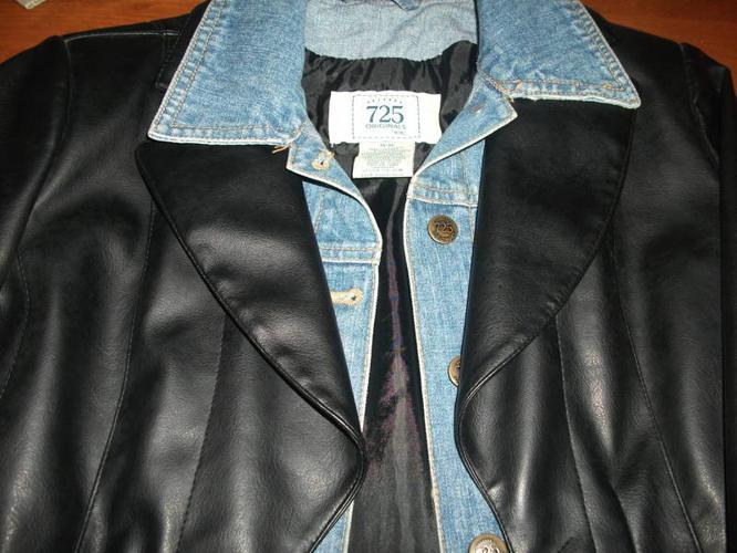 leather/jean jacket
