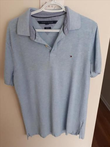 Light Blue Slim-Fit Tommy Hilfiger Polo Shirt
