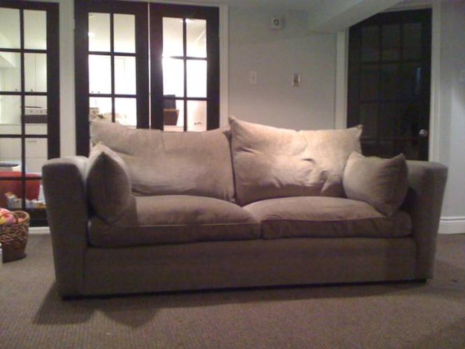 Like New Montauk Down Feather Filled Sofa