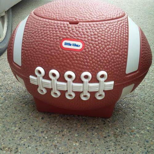 Little Tykes Brown Football Toy Box