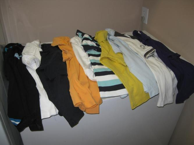 Lot of 16 Lacoste golf shirts and t shirts Small, 13 golf shirts and 3 t shirts