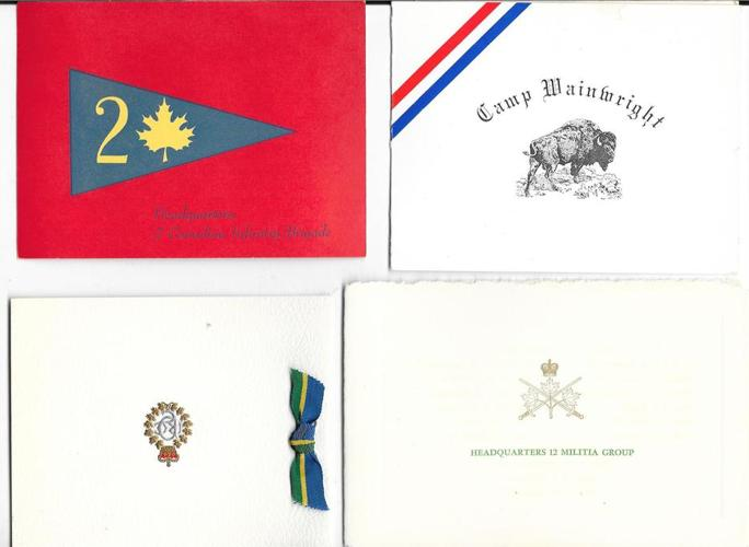 Lot of 80 Canadian Army Christmas cards 1960's + 1950's