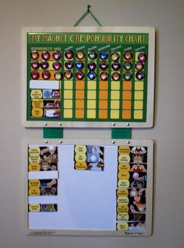 Magnetic Responsibility Chart - Chore Chart Great for
