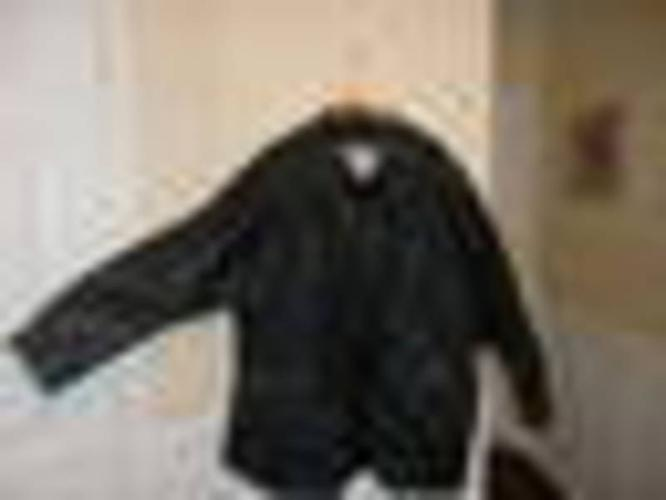 MENS BLACK KING SIZE LEATHER COAT W/ ZIP OUT LINING $100.00