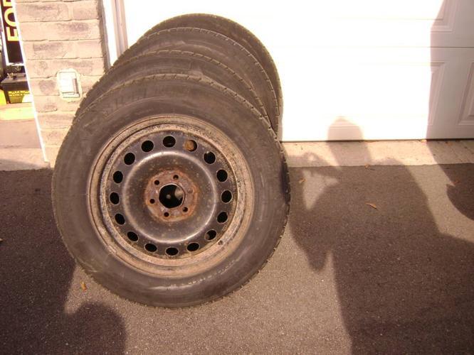 Michelin Lattitude X Ice Radial Snow Tires on Rims Set of Four