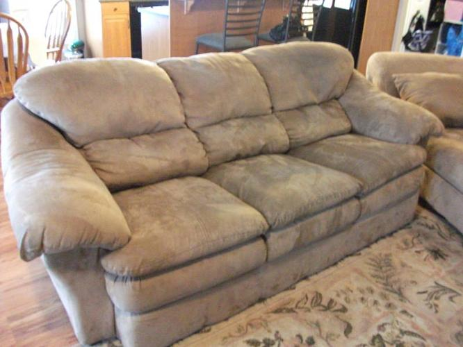 MICROSUEDE SOFA BED LOVESEAT AND CHAISE LOUNGE for sale in Neebing