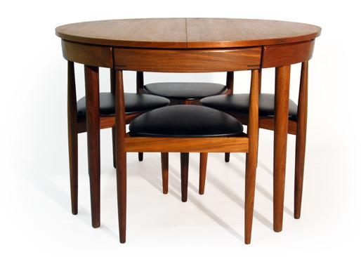 MID CENTURY MODERN HANS OLSEN DINING TABLE AND CHAIRS