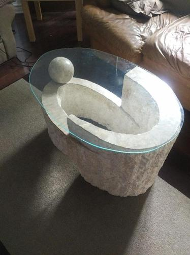 Modern Stone Glass coffee table