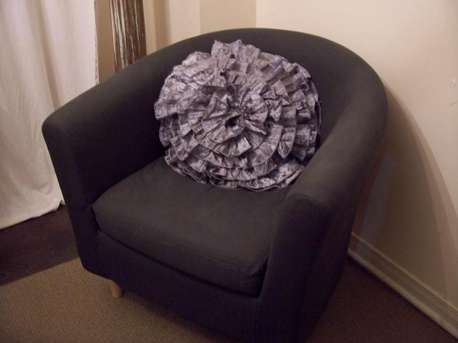 Navy Blue Round Armchair for sale