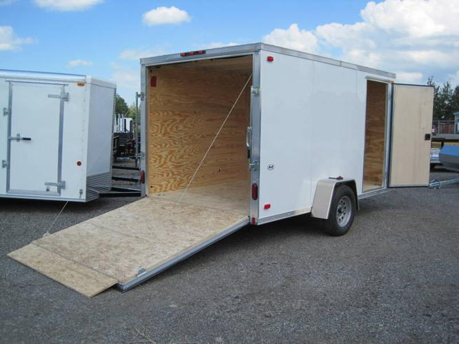 NEW 2011 R&R ALUMINUM 7X12 ENCLOSED CARGO TRAILER