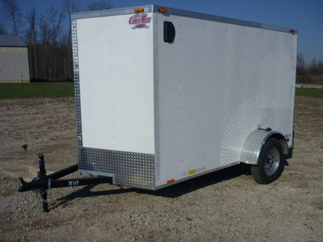 New 2012 CargoMate 6x10 enclosed trailer with rear ramp