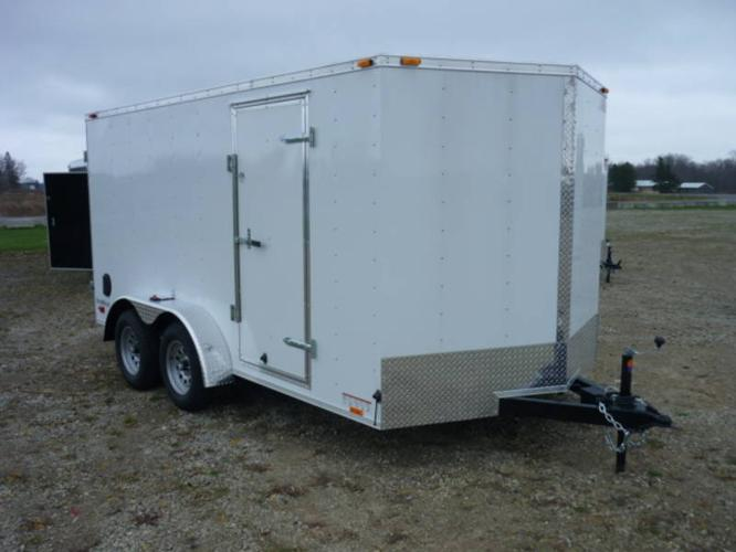New Enclosed trailer 7 x 14 with side and barn doors,