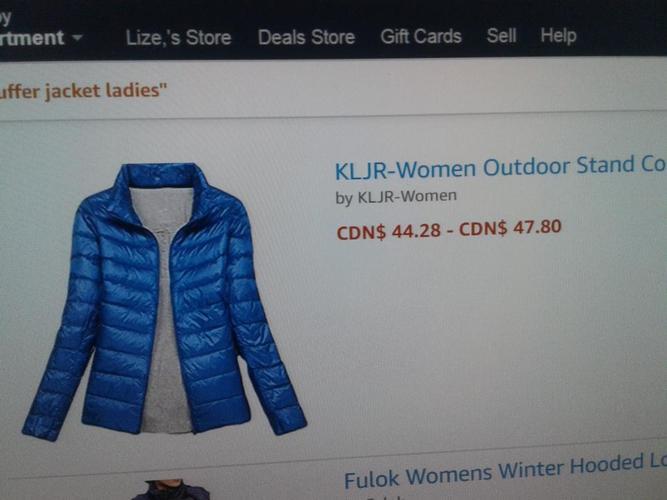 New puffer jacket M/L