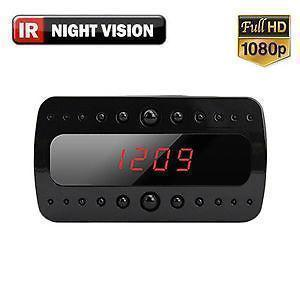 Night Vision HD Motion Detect LED Clock Hidden Camera Camcorder Mini DVR