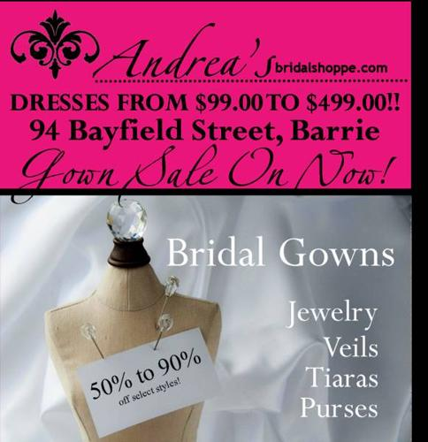 OFF THE RACK BRIDAL GOWN SALE $99.00 to $499.00