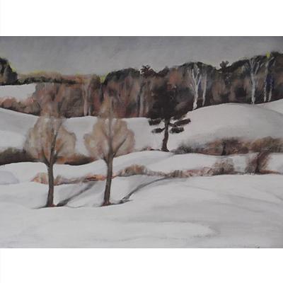 Oil on Board Winter Landscape