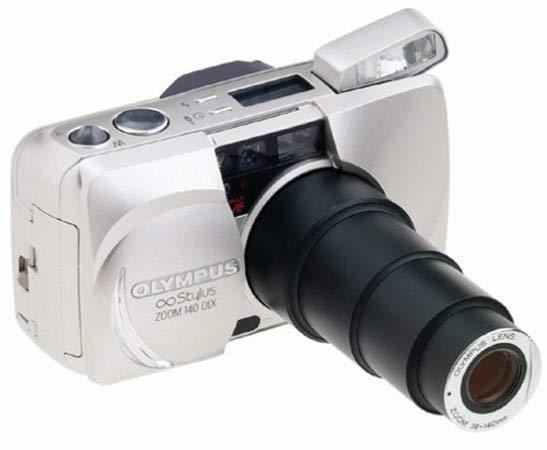 Olympus Stylus Zoom 140 DLX Panorama 35mm Camera