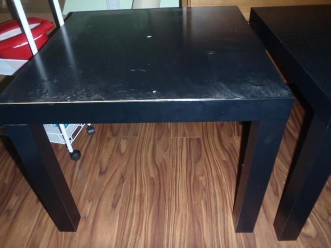 Pair of square Ikea tables