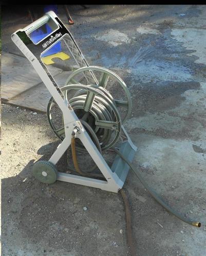 Plastic hose holder