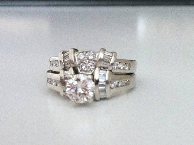 Platinum Diamond Ring Set